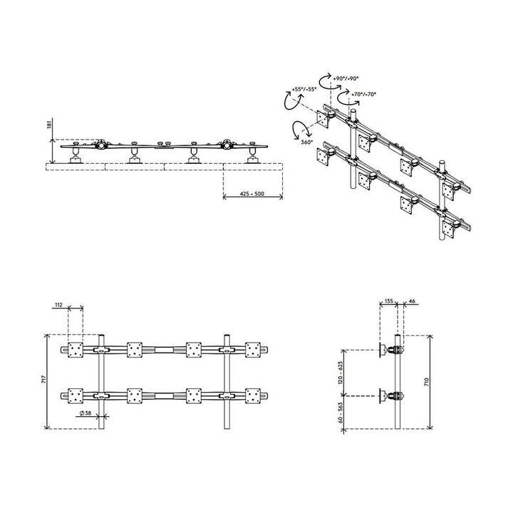 Dataflex Viewmaster multimonitorsysteem - bureau 83