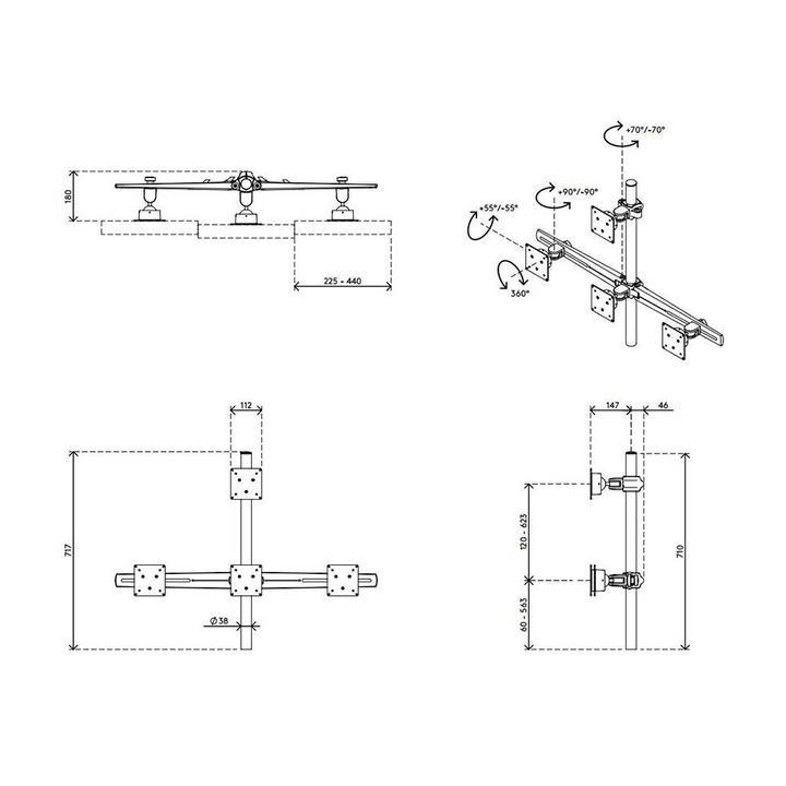 Dataflex Viewmaster multimonitorsysteem - bureau 34