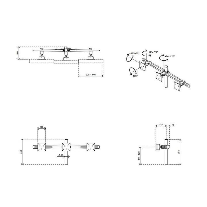 Dataflex Viewmaster multimonitorsysteem - bureau 33