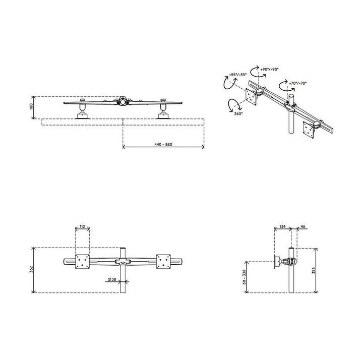 Dataflex Viewmaster multimonitorsysteem - bureau 22