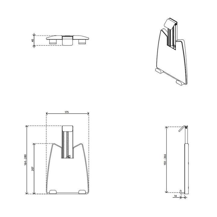 Dataflex Viewmate universal tablet holder - option 96