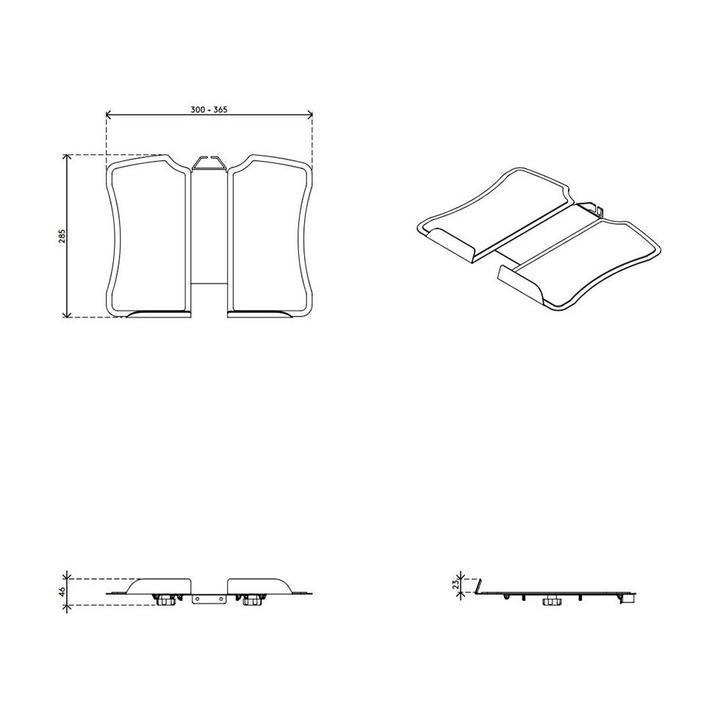 Dataflex Viewmate notebook holder - option 97