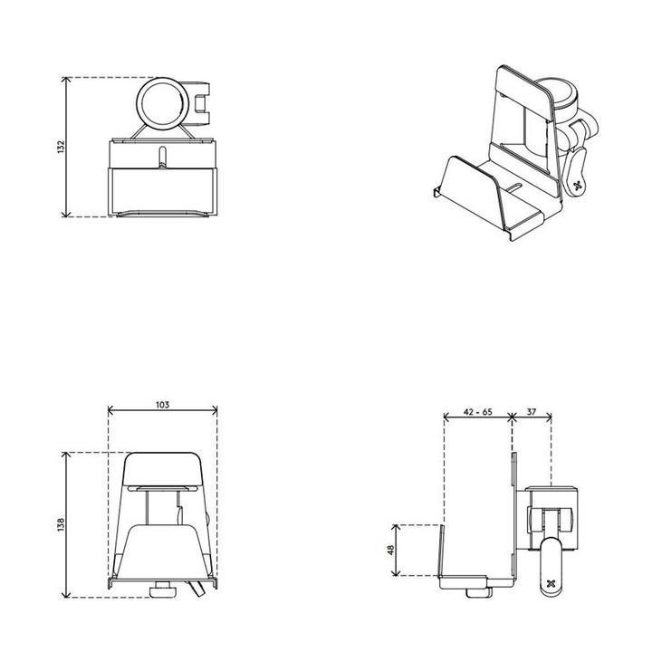 Dataflex Viewmate thin client holder - option 42