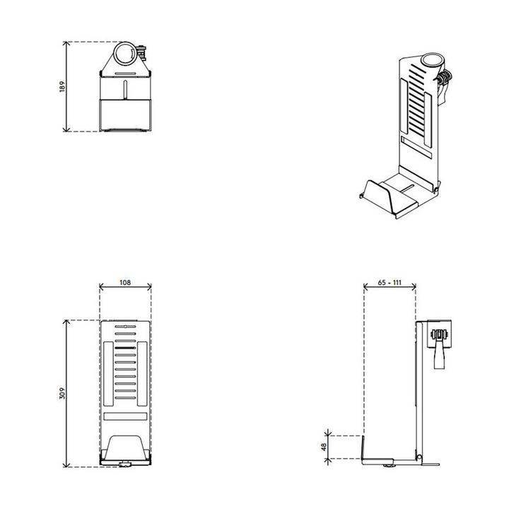 Dataflex Viewmate SFF-houder - optie 43