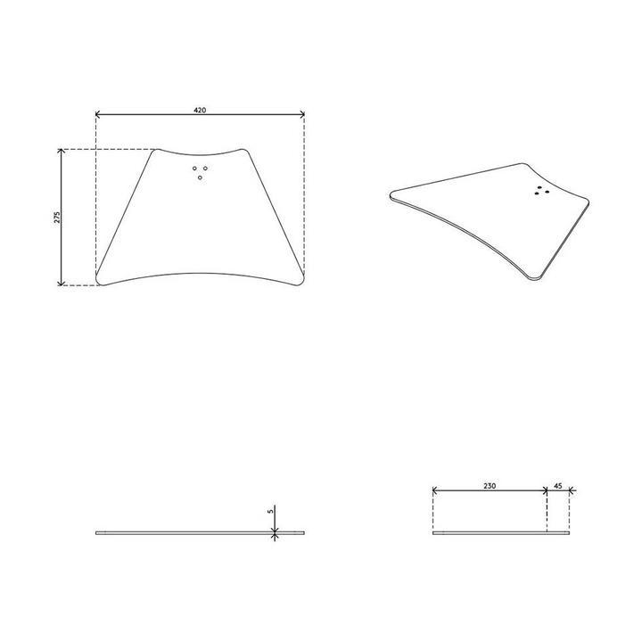 Dataflex Viewmate Fußplatte für Schreibtisch - Option 91