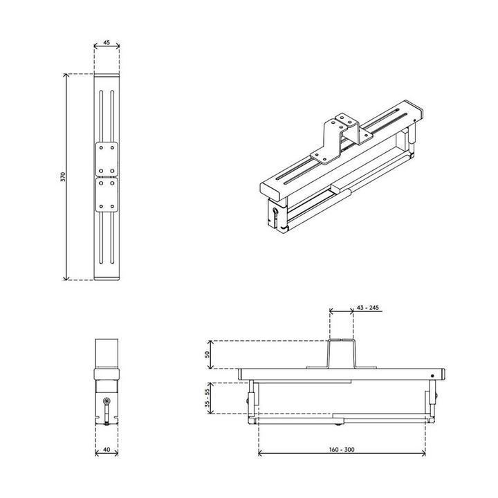 Dataflex Viewmate Computerhalterung - Schreibtisch 36