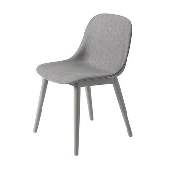 Muuto Muuto Fiber Side Chair | Wood base | Volledig bekleed