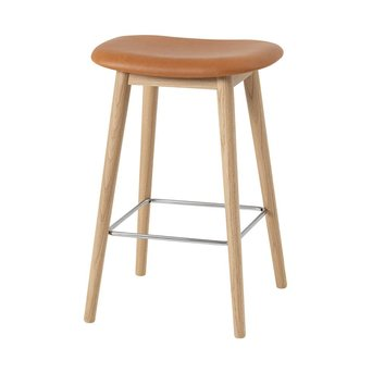Muuto Muuto Fiber Bar Stool | Wood base | Full upholstery