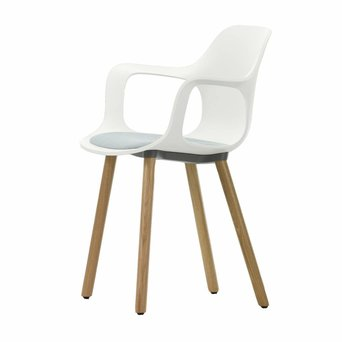 Vitra Vitra HAL Armchair Wood | Zitting bekleed