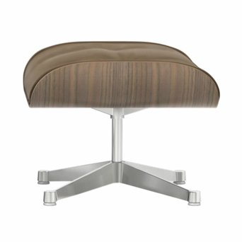 Vitra Vitra Lounge Chair Ottoman | Notenhout, wit gepigmenteerd