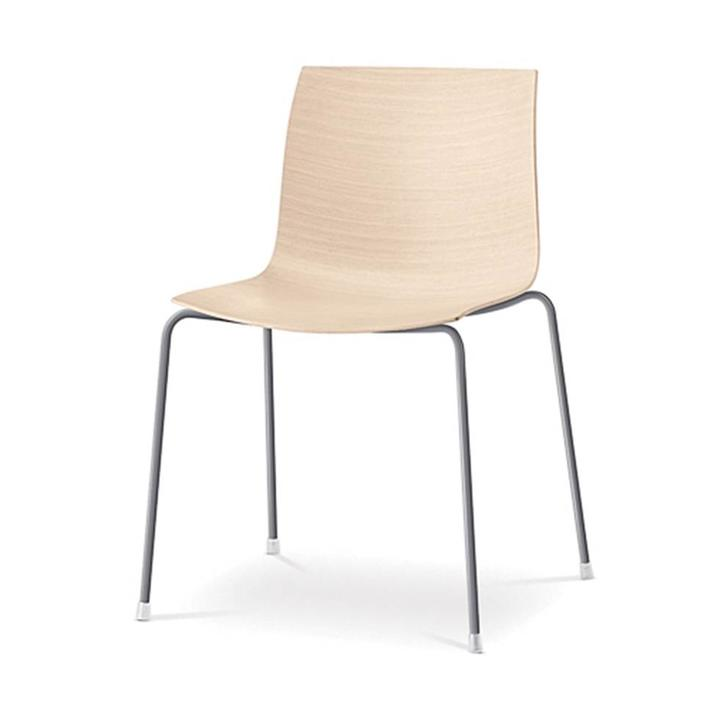 Arper Catifa 46 | Four-legged steel | Wooden seat shell