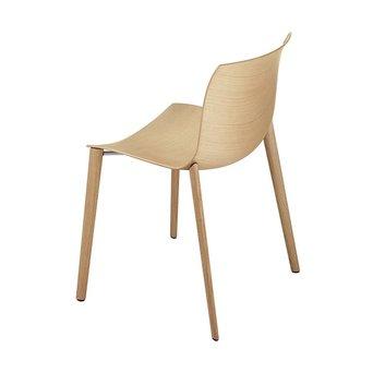 Arper Arper Catifa 46 | Four-legged wood | Wooden seat shell