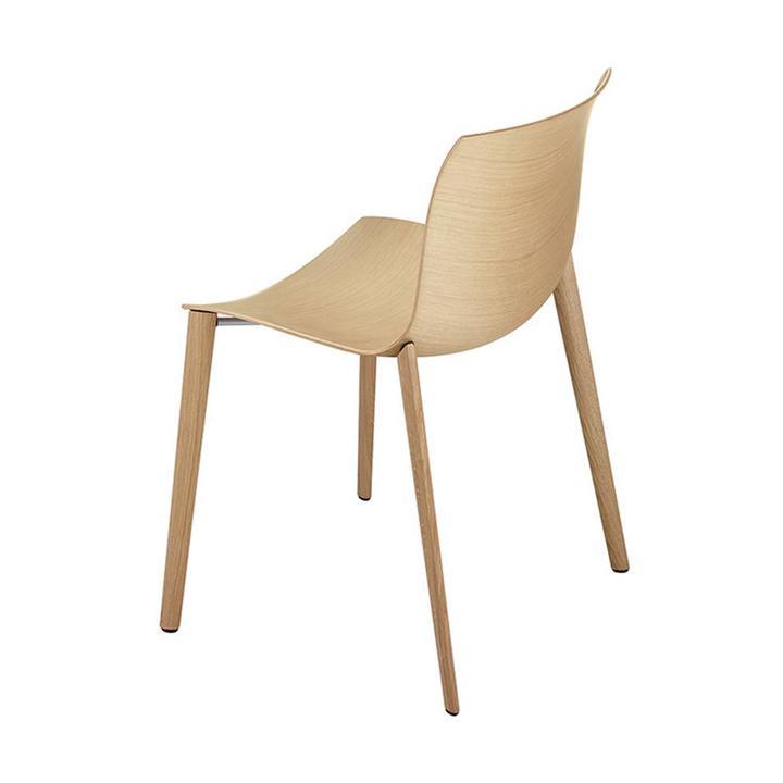 Arper Catifa 46 | 4-beinig Holz | Sitzschale aus Holz