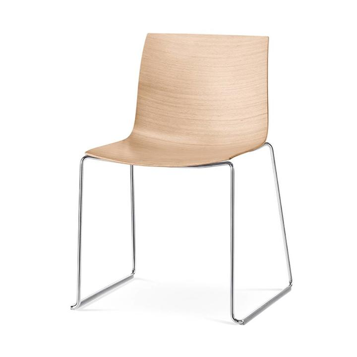 Arper Catifa 46 | Kufengestell | Sitzschale aus Holz