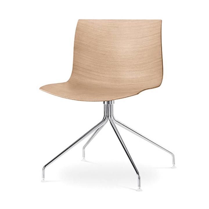 Arper Catifa 46 | Kreuzfuß | Sitzschale aus Holz