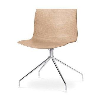 Arper Arper Catifa 46 | Cross base | Chrome | Wooden seat shell