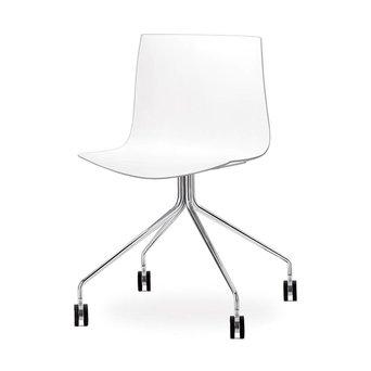 Arper Arper Catifa 46 | Cross base with castors | Chrome | Plastic seat shell