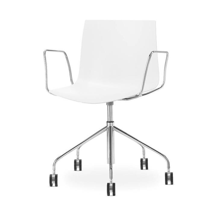 Arper Catifa 46 | Bureaustoel | Chroom | Kunststof zitschaal