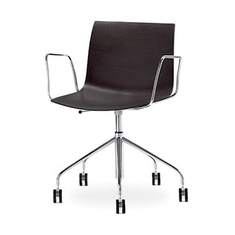 Arper Arper Catifa 46 | Desk chair | Chrome | Wooden seat shell