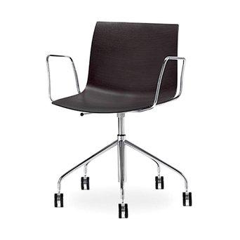 Arper Catifa 46 | Bureaustoel | Chroom | Houten zitschaal