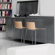 Arper Catifa 46 | Barhocker | Kufengestell | Sitzschale aus Holz