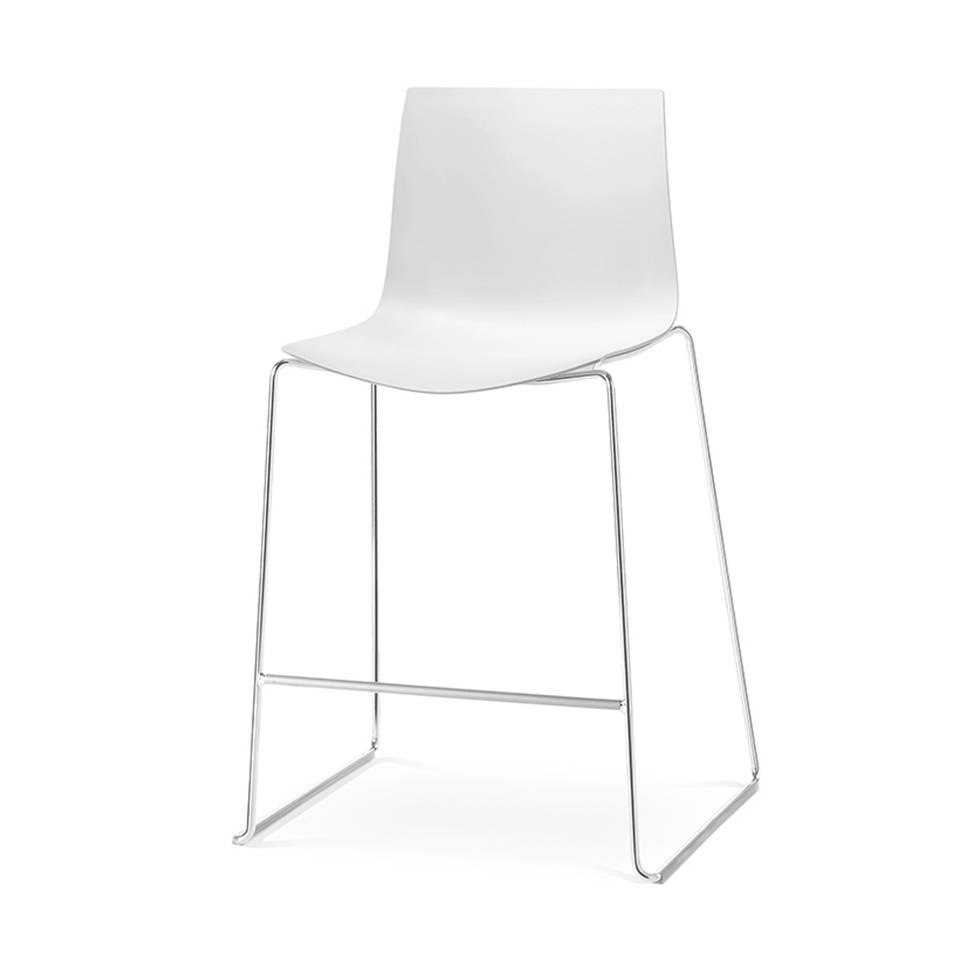 Fabulous Arper Arper Catifa 46 Bar Stool Sled Plastic Seat Shell Caraccident5 Cool Chair Designs And Ideas Caraccident5Info