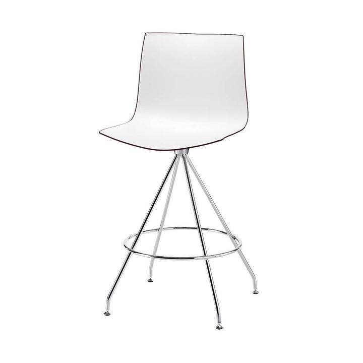 Admirable Arper Catifa 46 Bar Stool Cross Base Plastic Seat Shell Caraccident5 Cool Chair Designs And Ideas Caraccident5Info