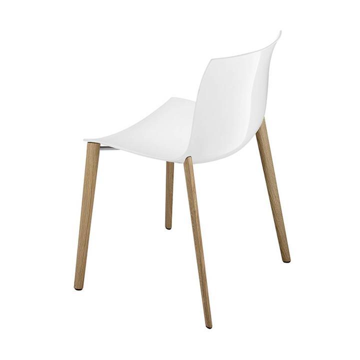 Arper Catifa 53 | 4-poots hout | Kunststof zitschaal