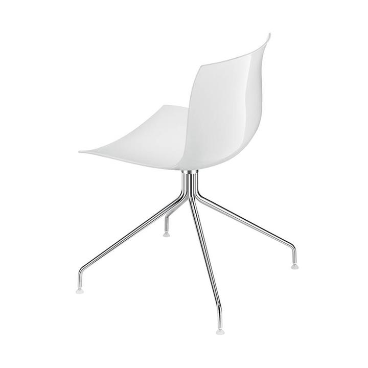 Arper Catifa 53 | Cross base | Chrome | Plastic seat shell