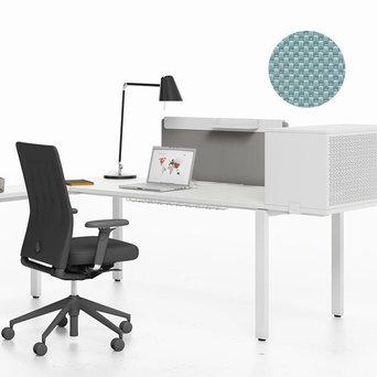 Vitra OUTLET | Vitra WorKit | Feststehender Schirm 100 für Einzelarbeitsplatz | Eisgrau nova