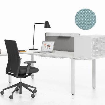 Vitra OUTLET | Vitra WorKit | Fixed screen 100 for single desk | Ice grey nova