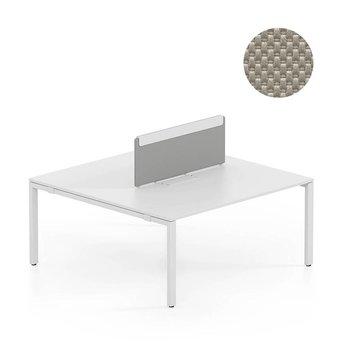 Vitra OUTLET | Vitra WorKit | Vast scherm voor dubbele werkplek | Bruin nova steen | 120 x 40 cm