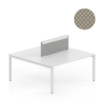 Vitra OUTLET | Vitra WorKit | Vast scherm voor dubbele werkplek | Bruin nova steen | 150 x 39 cm
