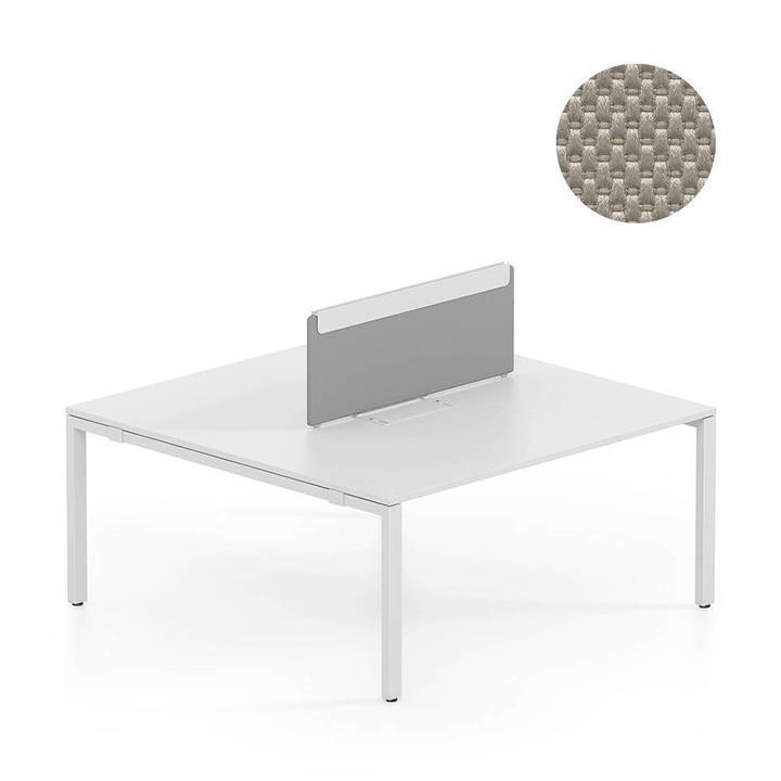 OUTLET | Vitra WorKit | Vast scherm voor dubbele werkplek | Bruin nova steen | 150 x 39 cm