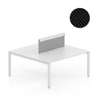 Vitra OUTLET | Vitra WorKit | Vast scherm voor dubbele werkplek | Zwart nova 66 | 100 x 39 cm