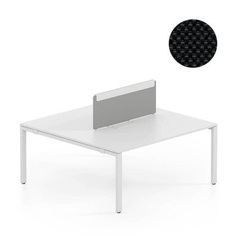 Vitra OUTLET | Vitra WorKit | Movable screen for duo bench | Nova nero | W 100 x H 39 cm