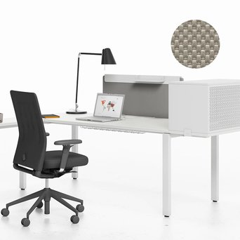 Vitra OUTLET | Vitra WorKit | Fixed screen 100 for single desk | Nova stone | H 60 cm