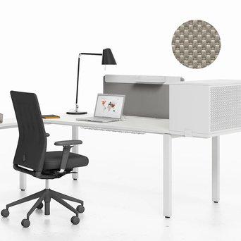 Vitra OUTLET | Vitra WorKit | Vast scherm 100 voor enkele werkplek | Nova steen | H 60 cm