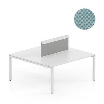 Vitra OUTLET | Vitra WorKit | Vast scherm voor dubbele werkplek | Ijsgrijs nova | 160 x 39 cm