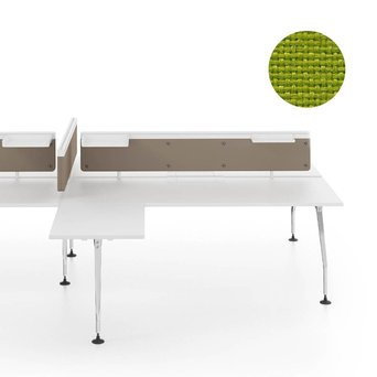Vitra OUTLET | Vitra Ad Hoc scherm voor dubbele werkplek | B 160 x H 31,5 cm | Plano avocado
