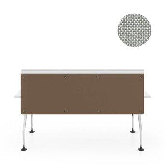 Vitra OUTLET | Vitra Ad Hoc scherm voor enkele werkplek | B 180 x H 58 cm | Plano cream white / sierra grey