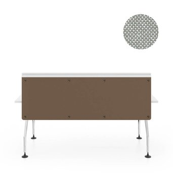 Vitra OUTLET | Vitra Ad Hoc screen for single bench | B 180 x H 58 cm | Plano cream white / sierra grey