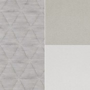 OUTLET | Arco Side by Side Highback | 240 x 80 x 120 cm | Grey triangle smoke | Grey hero 101 / 211 | Stainless steel