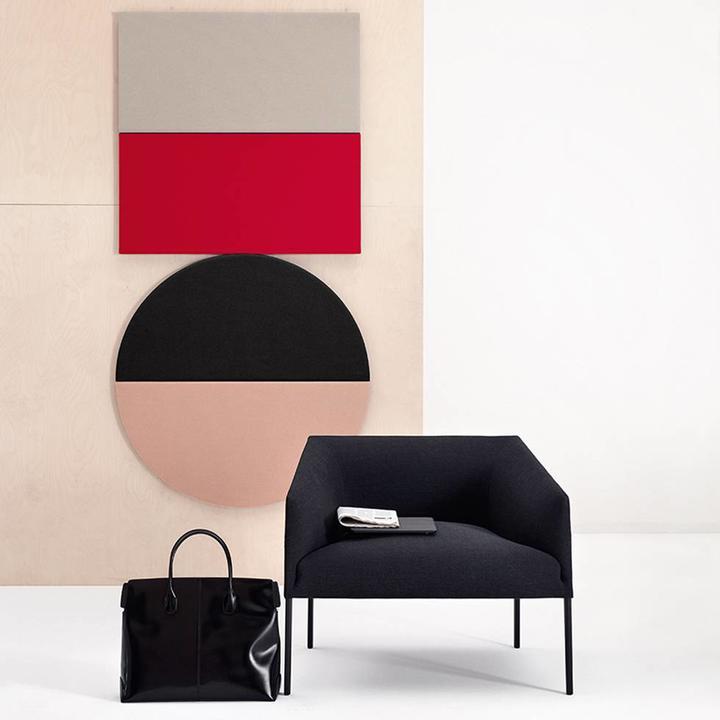 Arper Parentesit Wall Panel | Quadratisch | Horizontal | L 95 x B 95 cm