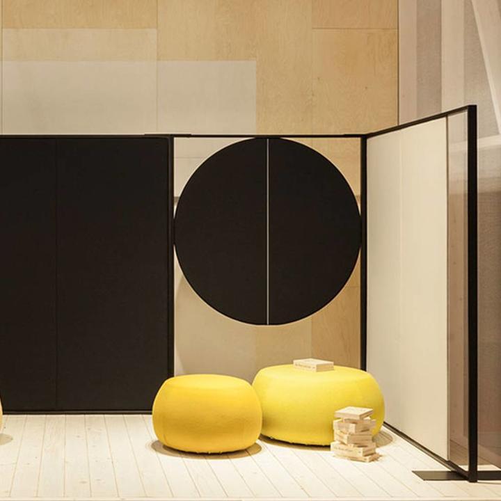 Arper Parentesit Freestanding | Rond | B 122 x H 180 cm