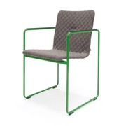 OUTLET | Arco Frame Round | Grey cross mineral | Green steel