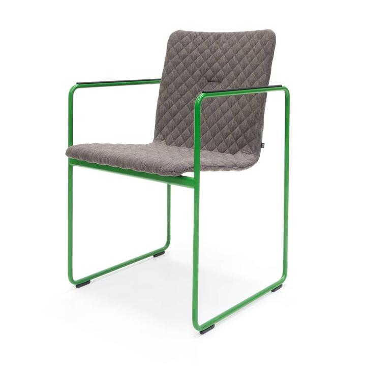 OUTLET | Arco Frame Round | Grijs cross mineral | Groen staal