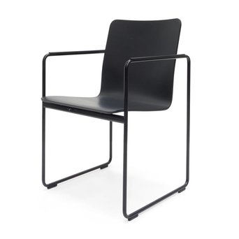 Arco OUTLET | Arco Frame Round | Black lacquer plastic | Black steel