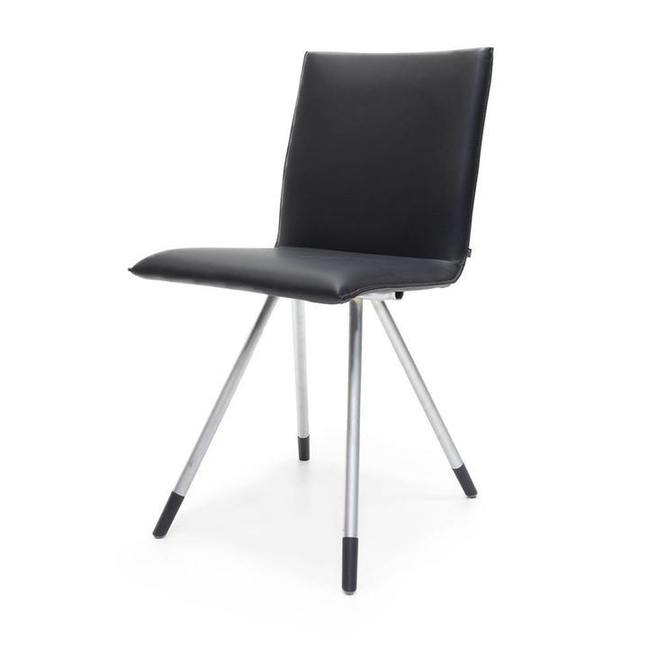Outlet Design Stoelen.Sale Arco Mikado Stainless Steel Black Leather Workbrands
