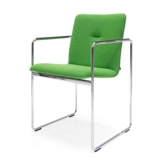 Arco OUTLET | Arco Frame Round | Verchroomd staal | Groen coda